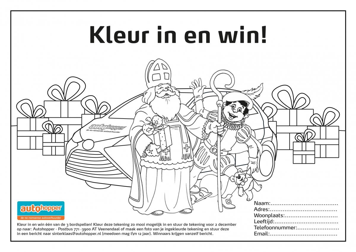 Sinterklaas Kleurplaat Autohopper